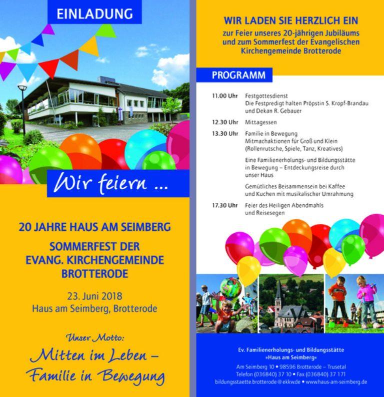 Haus am Seimberg Brotterode @ Evangelische Familienerholungs- und Bildungsstätte Haus am Seimberg