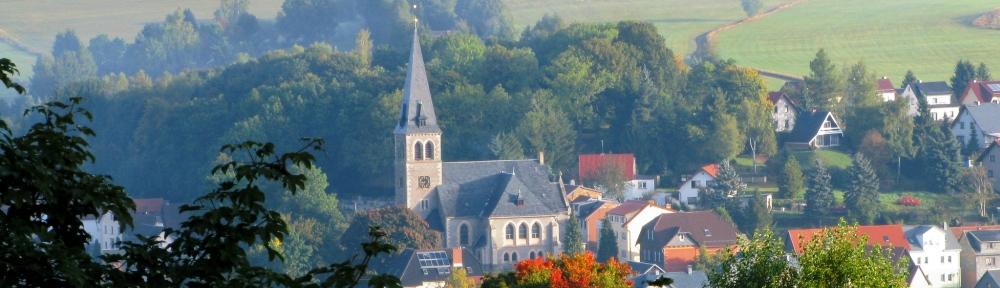 evangelische Kirche in Brotterode nebel
